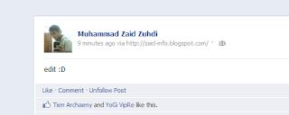 Cara Membuat Status Via di Facebook