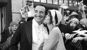 Jean Dujardin y Bérénice Bejo en The Artist