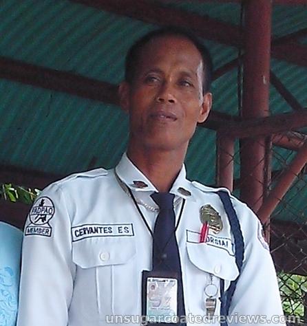 Emil Cervantes, guard at Lon Wa Buddhist Temple in Davao City, Philippines