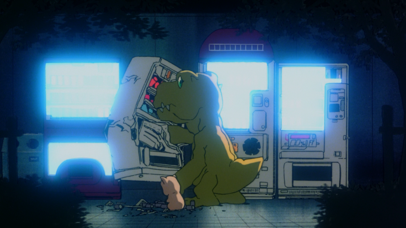 why was the agumon in the first movie so huge digimon