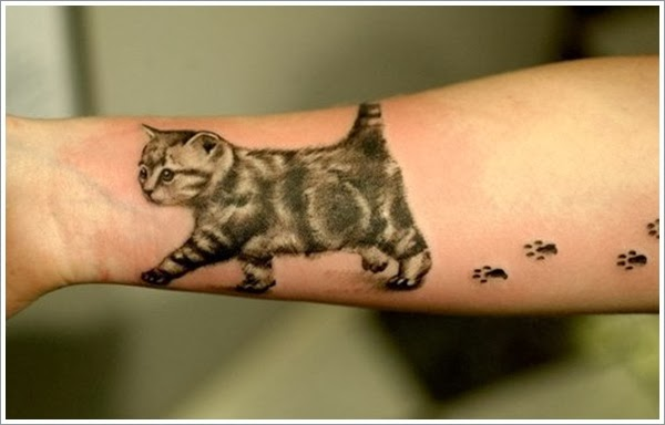 Tattoo gallery for men cat tattoo designs for men for Cool cat tattoo