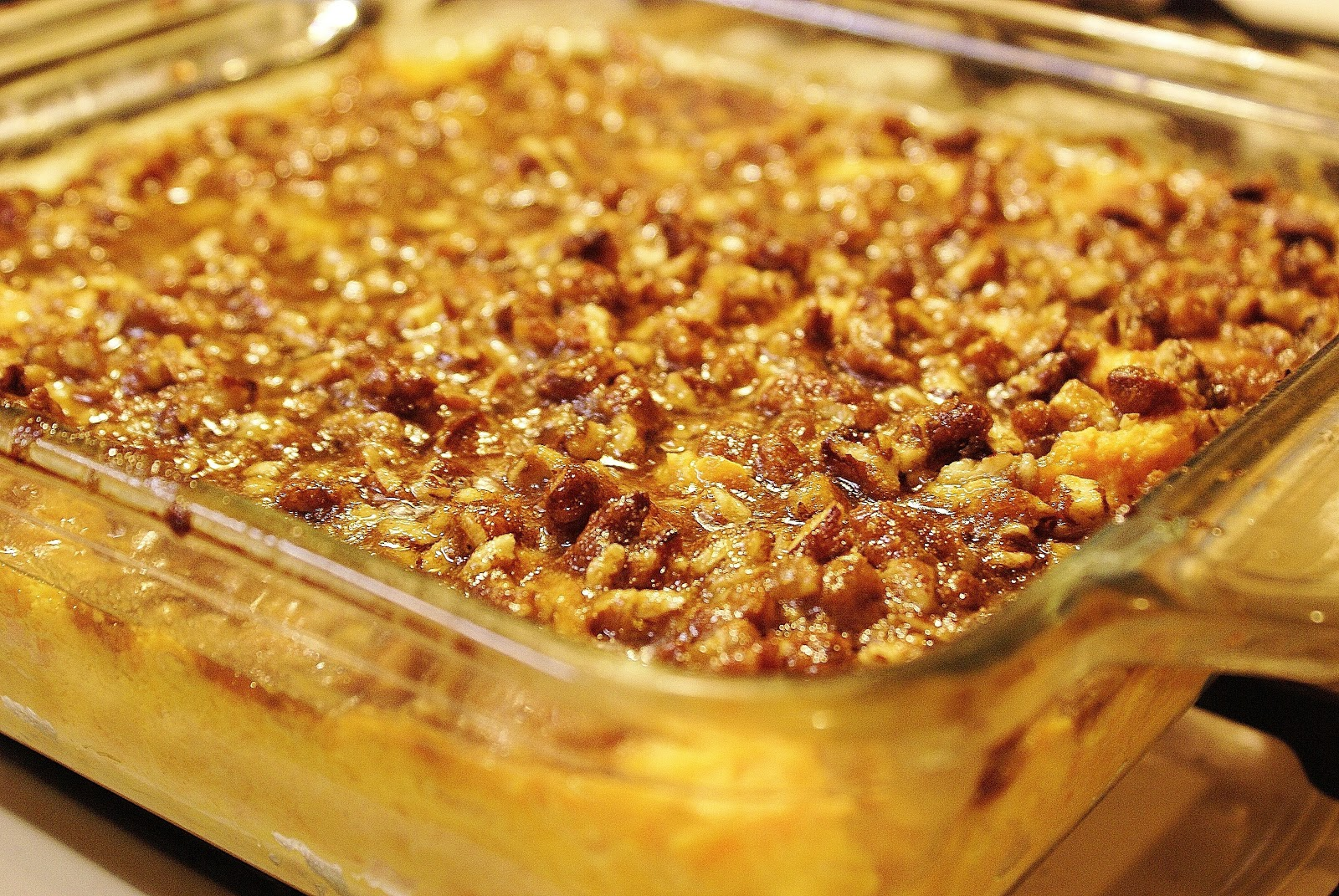 The Hungry Lovers: Pecan Orange Sweet Potato Casserole