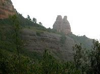 El Camell o Castellassa de Can Torras des de la zona de la Font Falsa de les Mosques