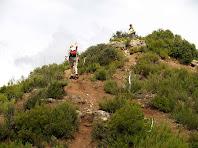 Arribant a la cota 636 metres del Serrat de la Cua de la Guilla