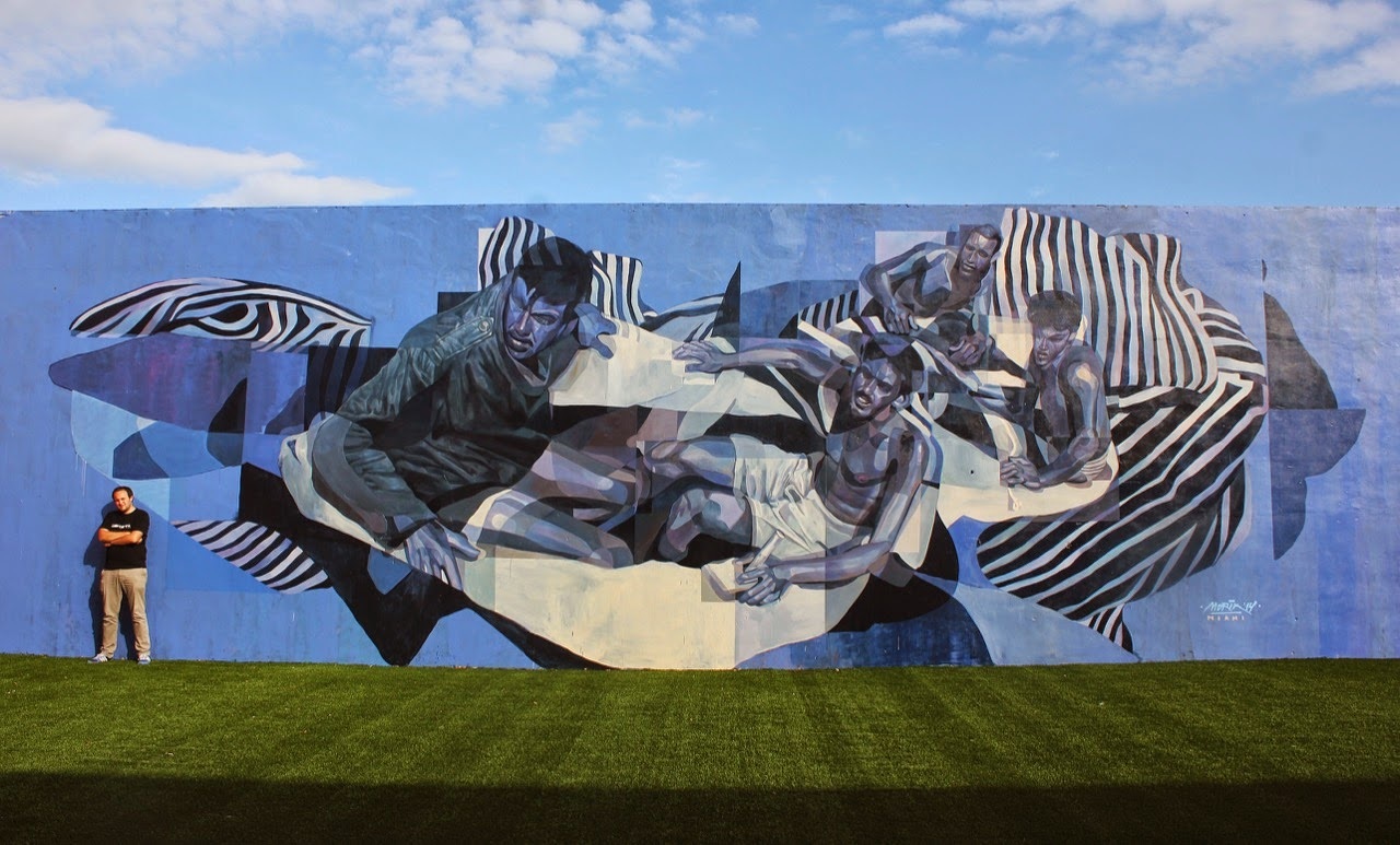 Hailing from the cold shores of Sibera, Morik was also in Wynwood where he was given the chance to paint a new piece at the Miami Ad School.