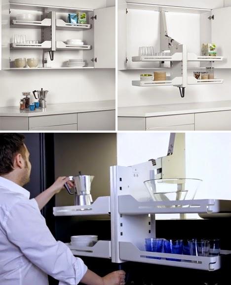 Gambar Desain Rak dan Lemari Dapur Model Gantung Minimalis  5