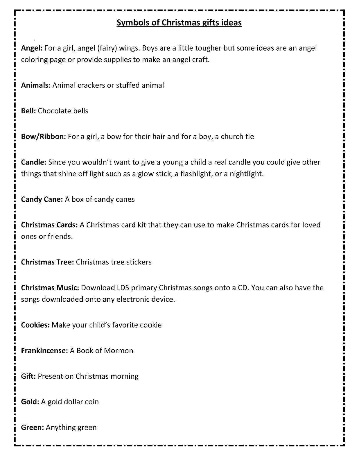 Ourhomecreations Free Printable With 25 Days Of Christmas Symbols
