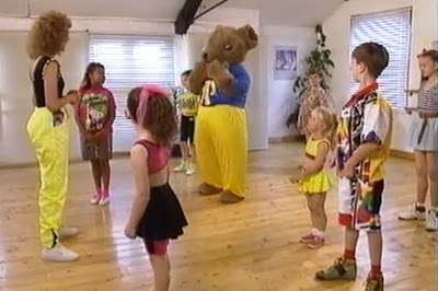 Lizzie Webb and Joggy Bear at Lizzie's Dancing School