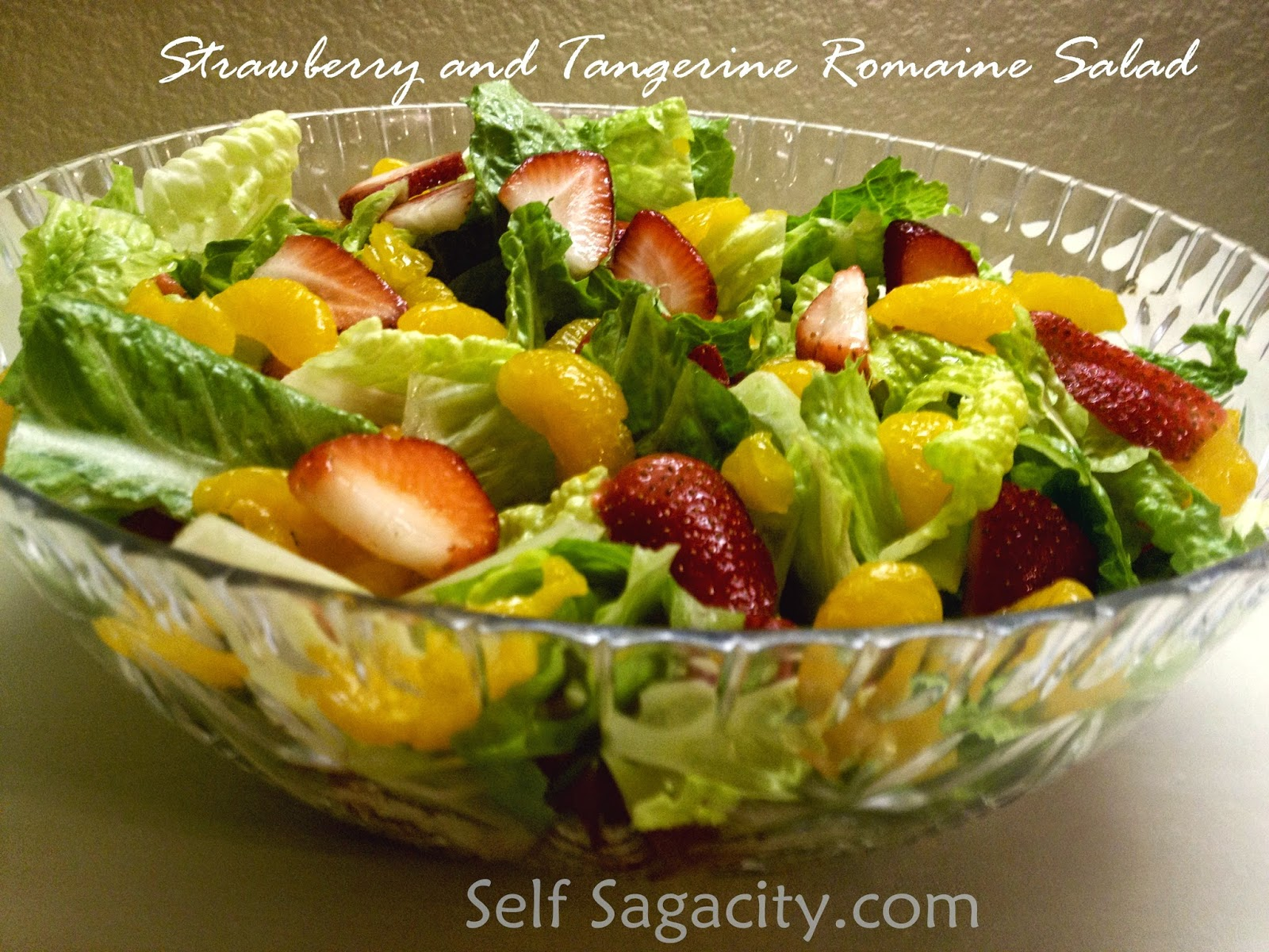 Strawberry and Tangerine Romaine Salad