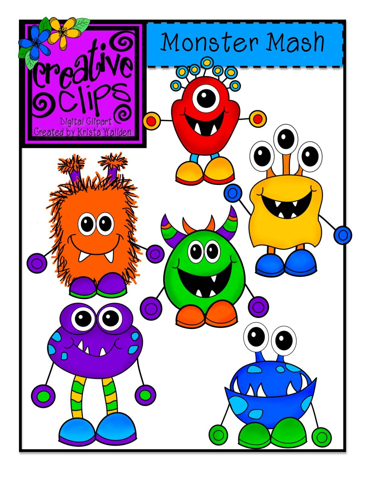 Day 2 Freebie Monster Writing Pages and New Monster Clipart! title=