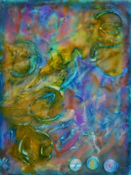 Gypsy at Dawn, Encaustic Art