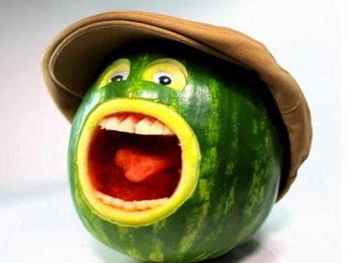 Funny Arts using fruits