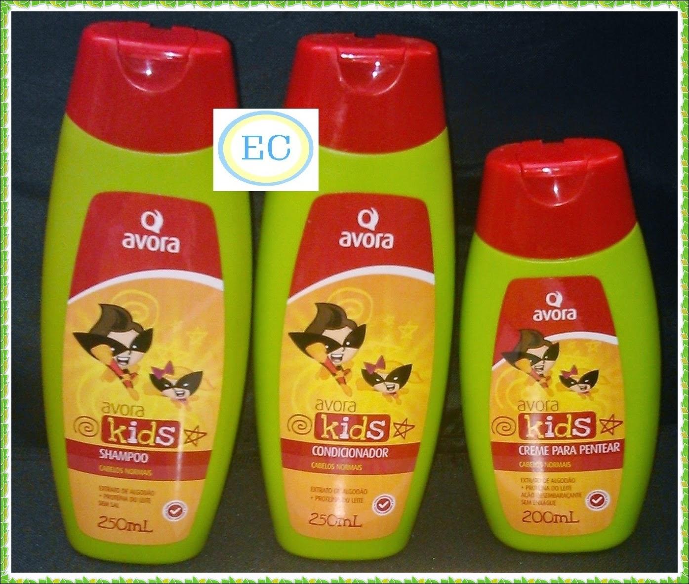 Avora Kids Cabelos Normais Shampoo e condicionador