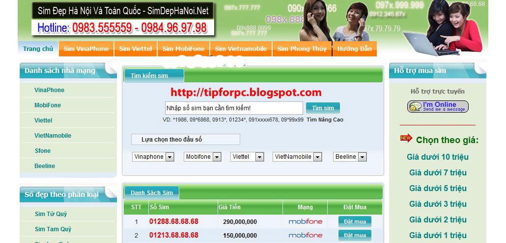 Source ASP.Net Mã nguồn Website bán sim card online