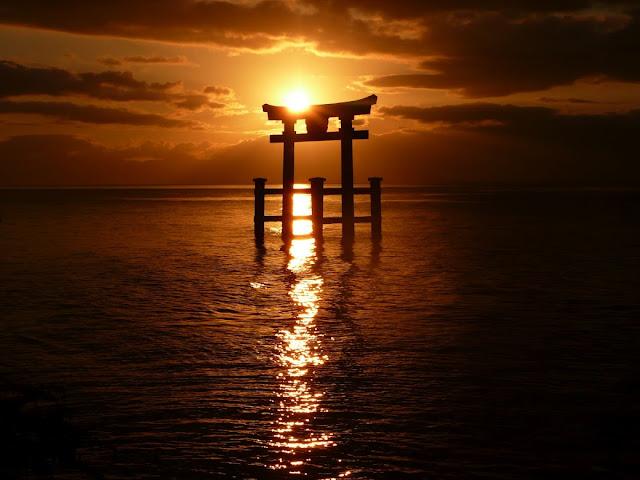 Япония Море Солнце Рассвет