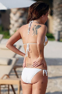 Tulisa Contostavlos White Bikini Dubai