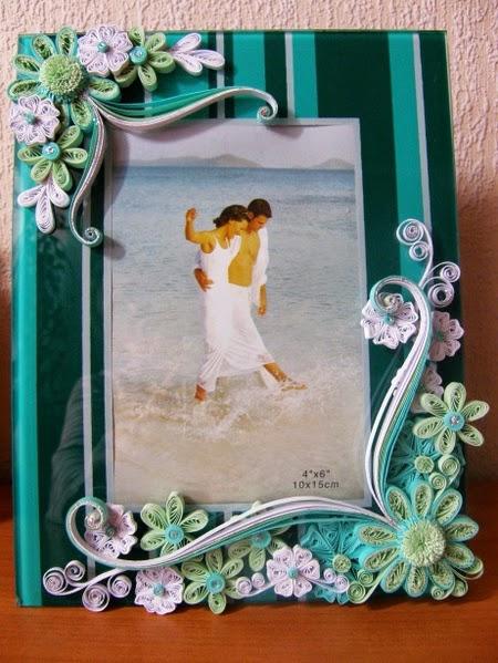 Как красиво оформить рамки для фото своими руками