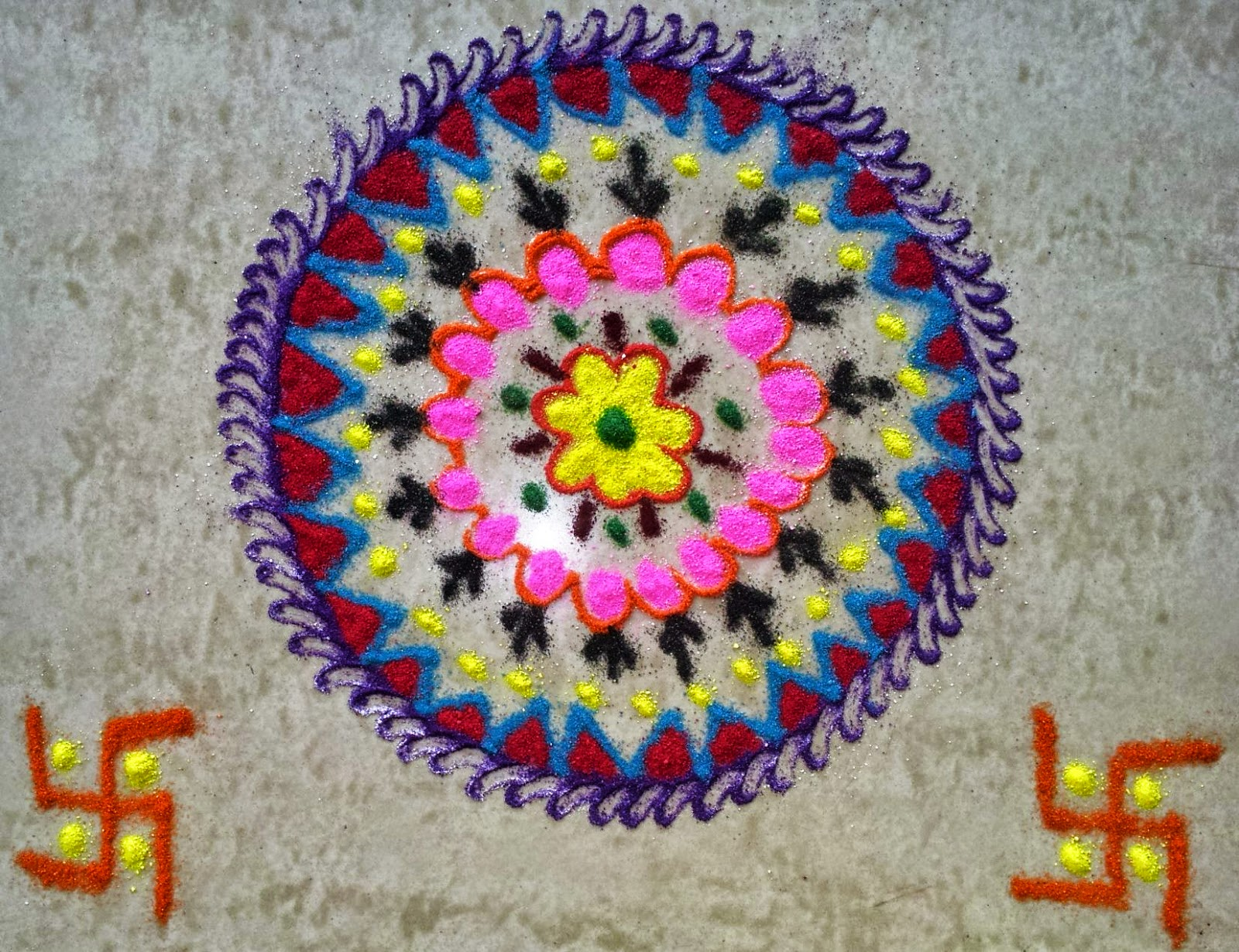 Kids Rangoli Designs 19
