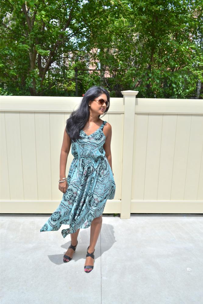 H&M dress justfab shoes