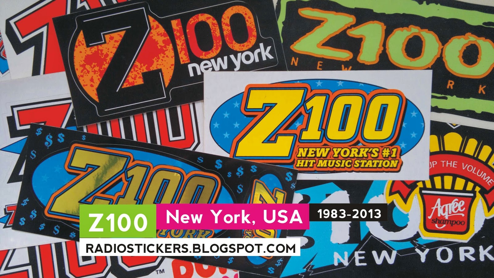 RADIO station stickers... and more!: Z100, New York (1983 ...
