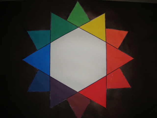 Rosa cromatica para colorear - Imagui