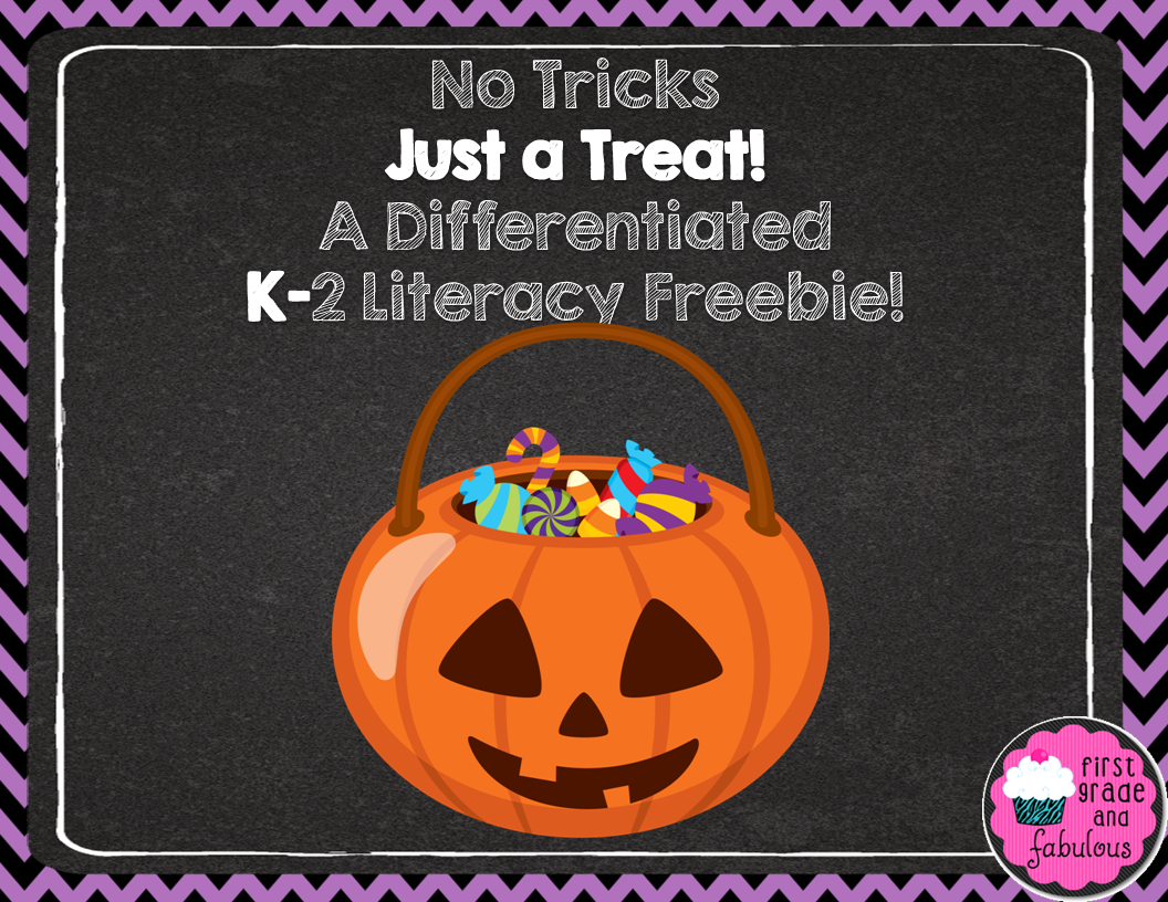 First Grade and Fabulous-Literacy Freebies for Halloween