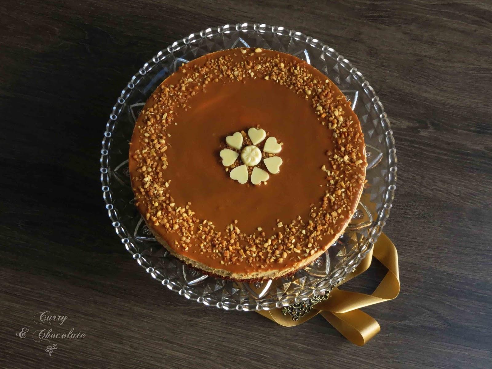 Tarta mousse de dulce de leche con base de bizcocho – Dulce de leche mousse cake with brownie crust