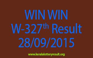WIN WIN W 327 Lottery Result 28-9-2015