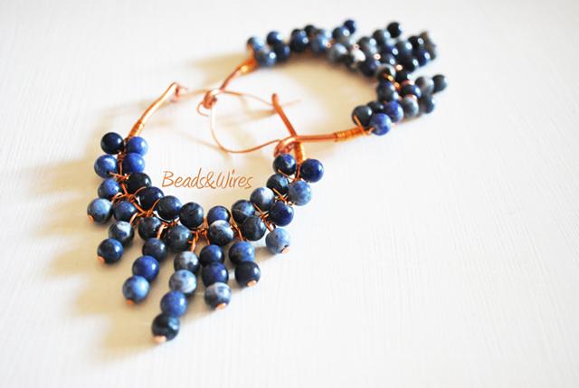 Orecchini grappolo beads and wires