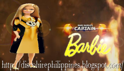 Kids TV Philippine drama Captain Barbell superhero in a Barbie dolls dress flying across our screens