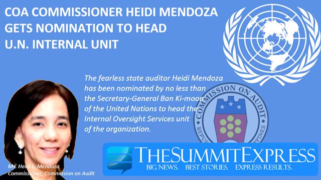 Commission on Audit Commissioner Heidi Mendoza