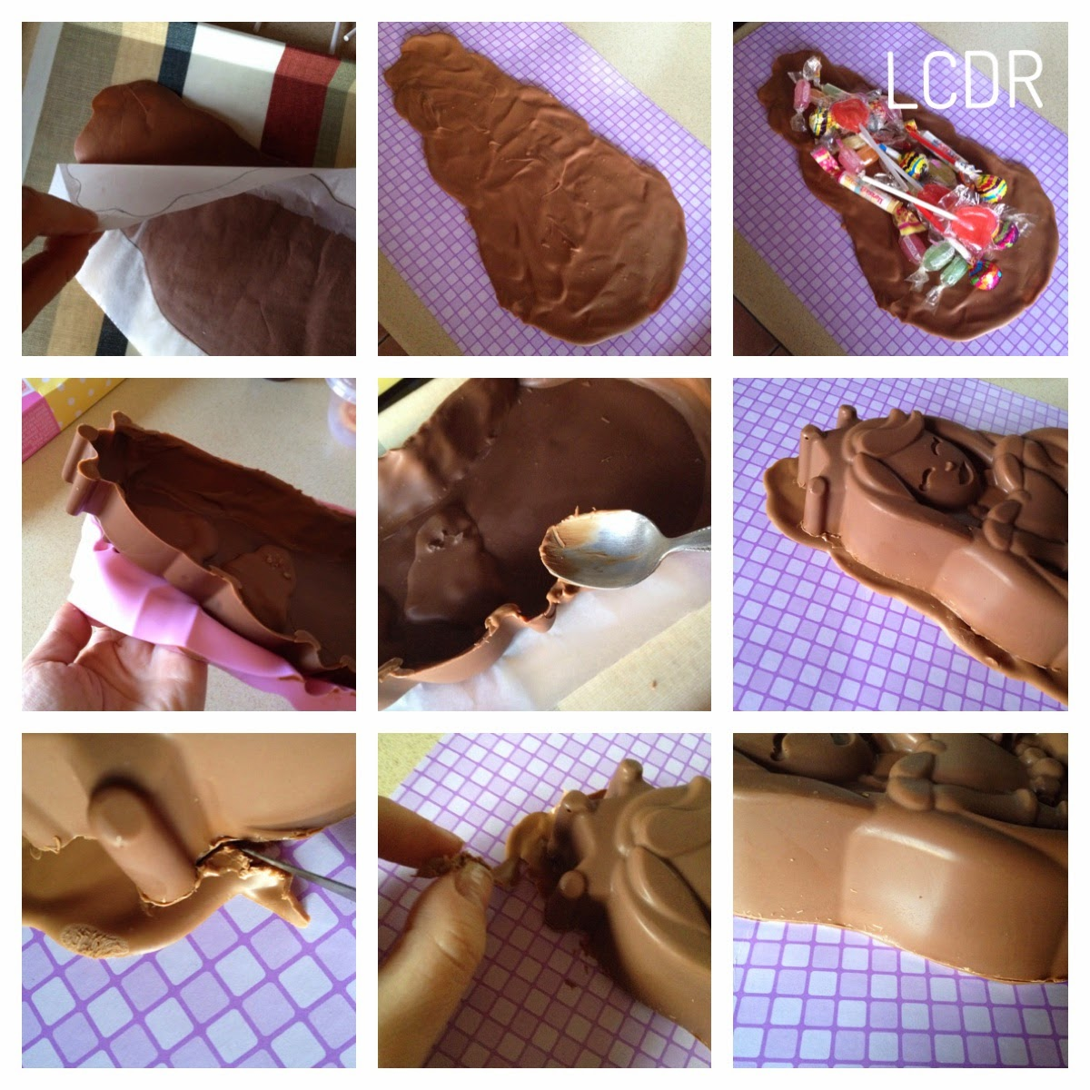 Receta de tarta piñata de chocolate 04