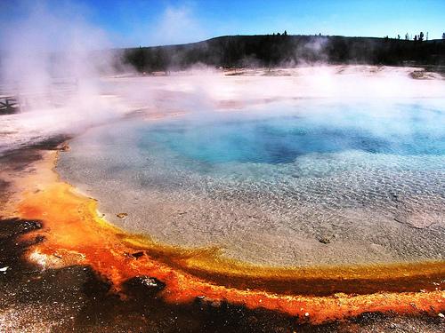 Norris geyser basin, geothermal colors, yellowstone geology view nikon keyword suggestions