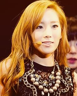 taeyeon long orange hair beautiful korean artists
