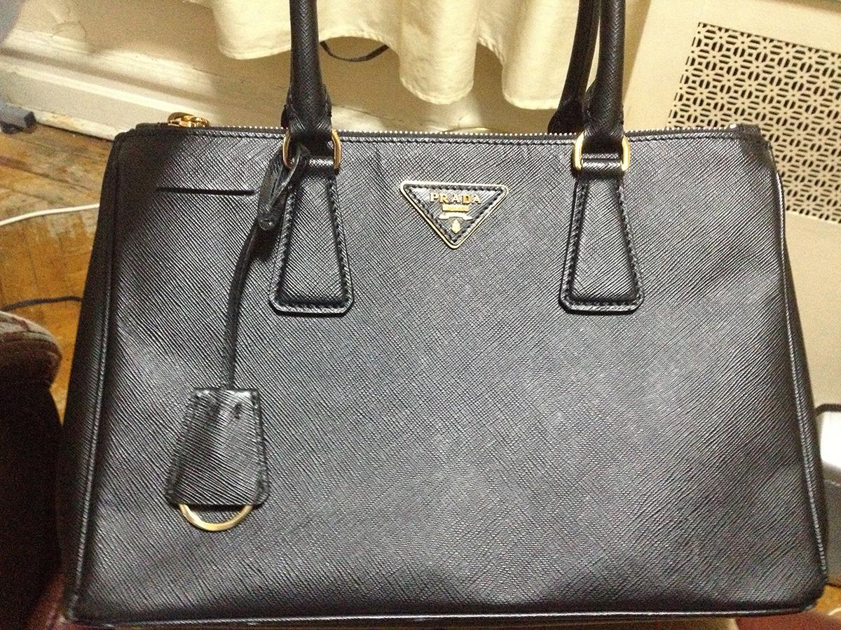 prada luggage bags - Purse Princess: Replica Black Prada Saffiano from Joy