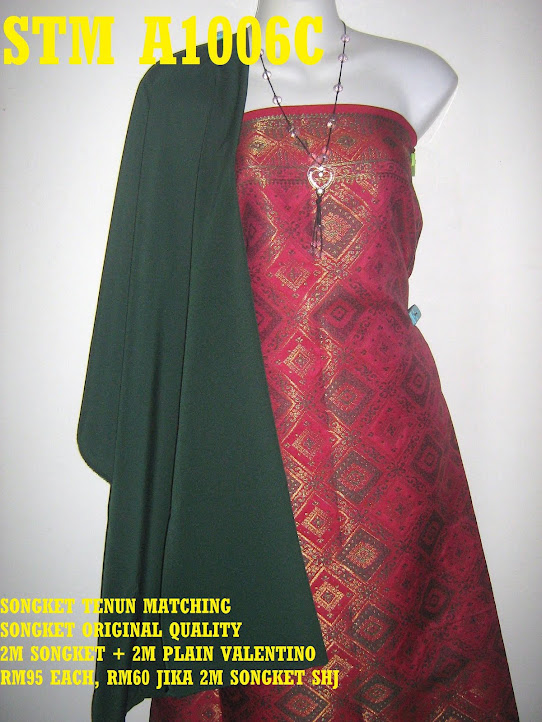 STM A1006C: SONGKET TENUN MATCHING, HIGH QUALITY, 2M SONGKET + 2M PLAIN