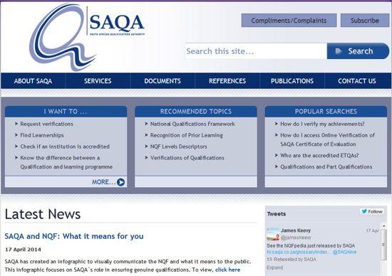 http://www.saqa.org.za/