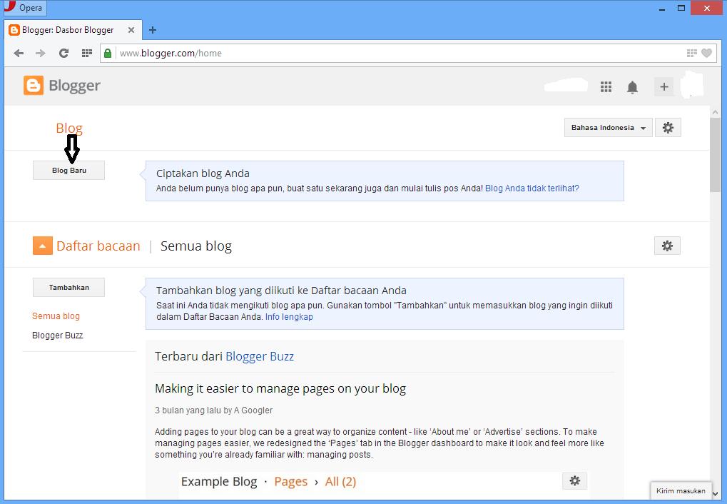 Cara Mudah Membuat Blog Blogspot.com