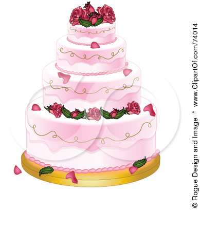 Pink wedding cake Get the clip art here Download free Wedding Silhouette