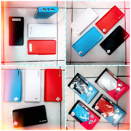 power bank sky cell samsung model dompet panjang 6 pcs bat cell