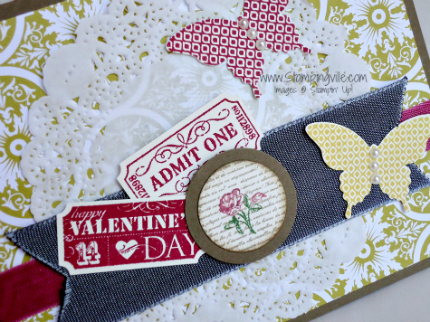 Stampin' Up! That's the Ticket, Collage Curios, Papillon Potpourri stamp sets
