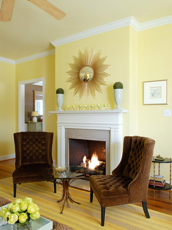 New Home Interior Design: Yellow Color Schemes