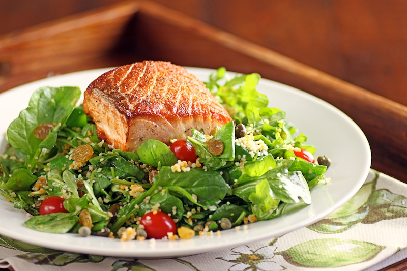 ... in My Soup!: Salad Days of Summer: Salmon, Arugula and Couscous Salad