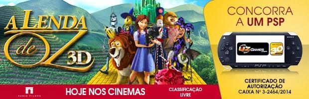 """Mais 3 Concursos Culturais do filme """" A Lenda de Oz""""  para ganhar um PSP!"""