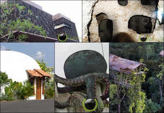 6 bentuk rumah yang paling unik di negara indonesia news