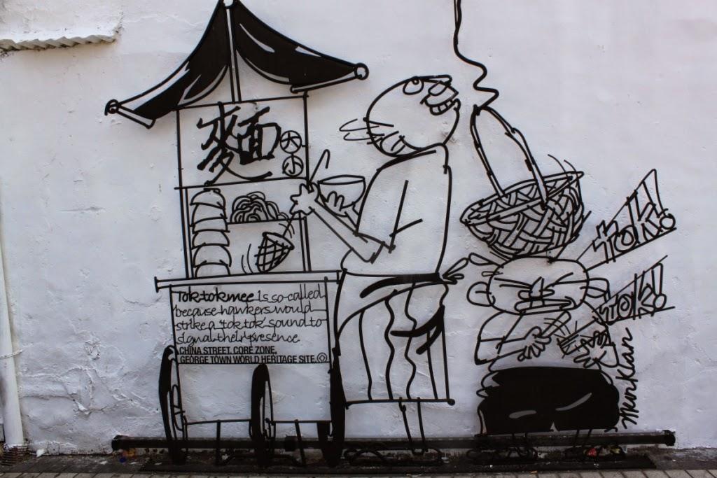Penang street art - Tok tok mee