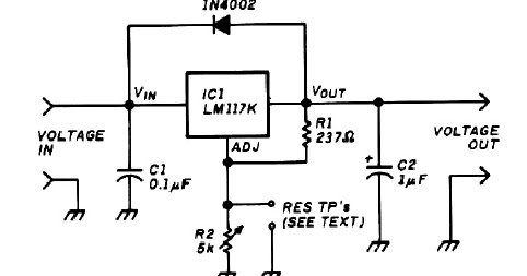 variable voltage regulator electronic project diagram