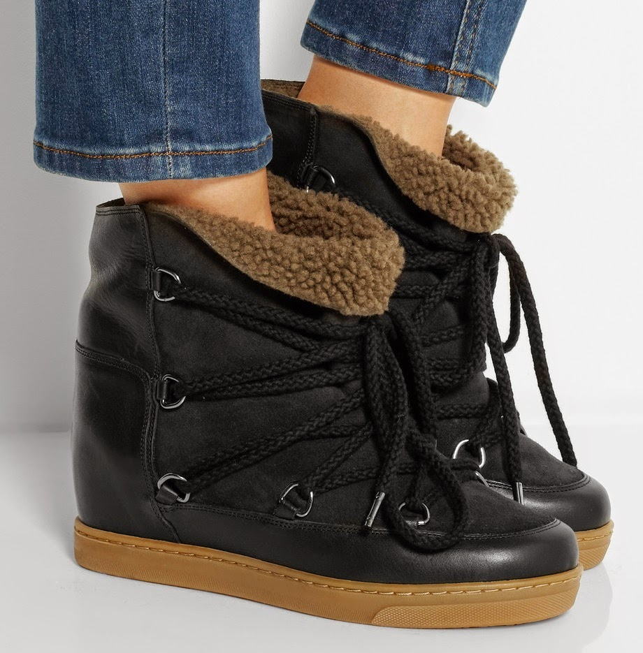 shoe of the day isabel marant nowles wedge ankle boots. Black Bedroom Furniture Sets. Home Design Ideas