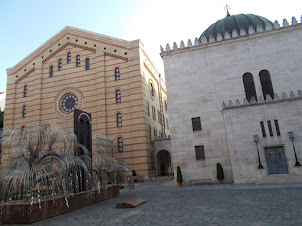 """Dohany Street """"Great Synagogue"""" in Budapest."""