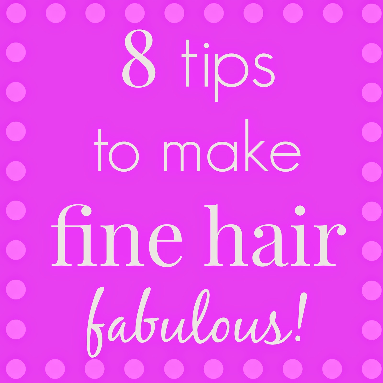 tips for fine hair